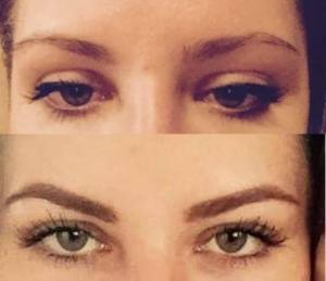 Permanentní make-up metodou stínování.